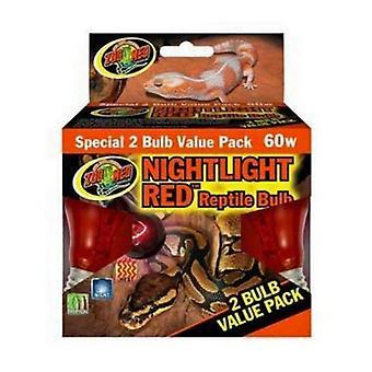 حديقة ميد ضوء النهار الزواحف لمبة الأحمر - 2 العد (60 واط)
