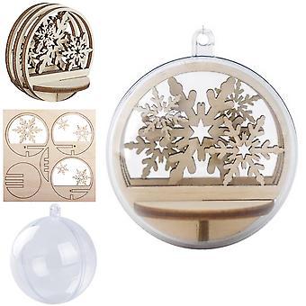 Miniature 6cm Christmas Snowflake 3D Layered Scene & Bauble Craft Kit   Makes 1