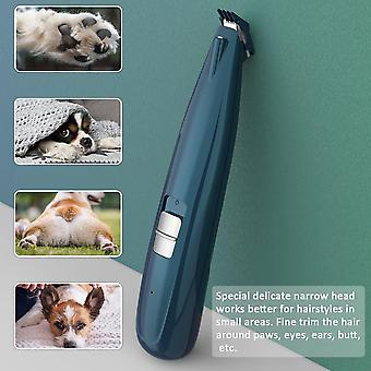 Dog Grooming Clippers Cordless Cat Puppy Clipper Low Noise Electric Pet Trimmer(green)