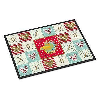 Door mats carolines treasures ck5484mat crowntail betta love indoor or outdoor mat 18x27