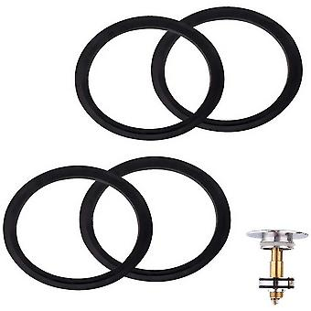 Jewelry holders o-rings rubber gasket 4 pieces waste basin click plug bathroom basin pop up spare seal for metal