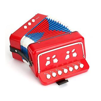 Kinderen accordeon speelgoed 10 toetsen knoppen controle mini muziekinstrumenten