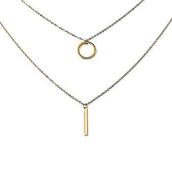 Link-Kette-Halskette für Womens 16 '' Geschenk für Frau/Freundin aus Edelstahl