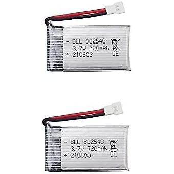 2Pcs 3.7V Lipo Battery, 720mAh for RC Drones Quadcopter Syma x5 x5C x5sc x5sw, Cheerson CX-30W, SkyTech M68, Wltoys f949