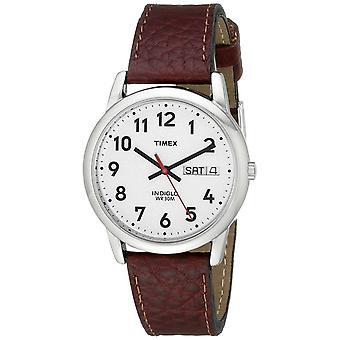 Timex Easy Reader brązowy skórzany zegarek - (nr kat. T20041)