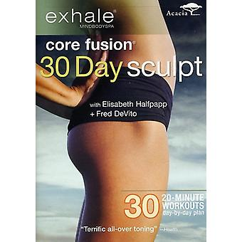 Exhale: Core Fusion 30 Day Sculpt [DVD] USA import