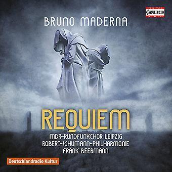 Maderna / Mdr Rundfunkchor Leipzig / Robert-Schum - Requiem [CD] USA import
