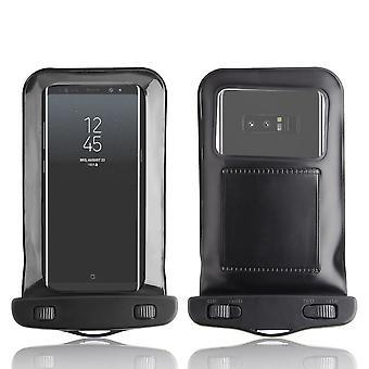 InventCase vedenpitävä Dustproof laukku Case Suojakotelo Samsung Galaxy Huomautus 8 / Note8 - musta