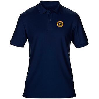 Marinha russa bordado logotipo - camisa Polo de Mens