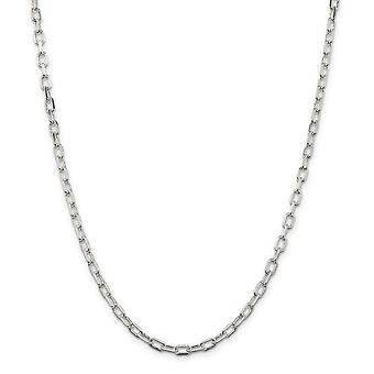 925 סטרלינג כסף מלוטש Diam לחתוך כבל פתוח שרשרת צמיד 4.3mm לובסטר טופר תכשיטים מתנות לנשים - אורך: 7 t