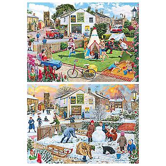 Gibsons Wigwams & Woolly Hats Jigsaw Puzzle (2 x 500 Pieces)
