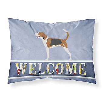 American Foxhound Welcome Fabric Standard Pillowcase