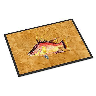 كنوز كارولين 8751JMAT خنزير النهاش في الذهب داخلي أو في الهواء الطلق حصيرة 24 × 36