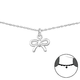 Bow - 925 Sterling Silver Chokers - W35105x