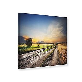 Canvas tulostaa Sunrise kentällä