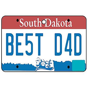 South Dakota - Best Dad Nummernschild Auto Lufterfrischer