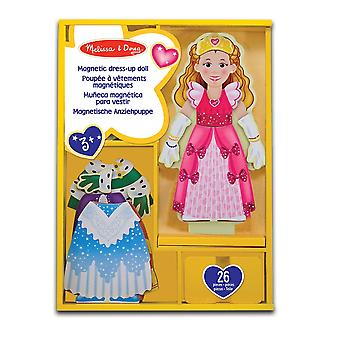 Melissa & Doug Deluxe prinsessan Elise magnetiska trä klä upp docka