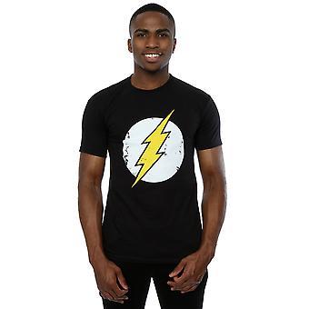 DC Comics menns Flash Distressed Logo t-skjorte