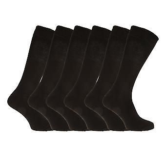Mens katoen Rich Lycra sokken (Pack van 6)