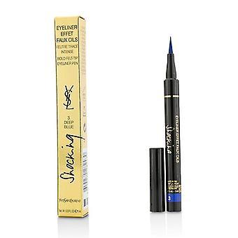 Yves Saint Laurent eyeliner effet-teko kynät järkyttävä (rohkea huopa silmän rajaus kynä)-# 3 Deep Blue-1ml/0,03 oz