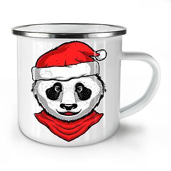 Christmas Panda NEW WhiteTea Coffee Enamel Mug10 oz | Wellcoda