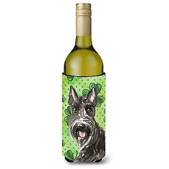 Botella de vino Beverge aislador Hugger de tréboles Scottish Terrier