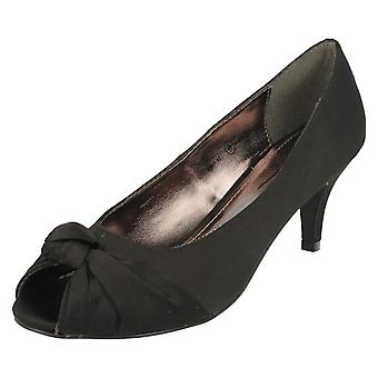 Ladies Anne Michelle Knot Detail Peep Toe Court Shoe