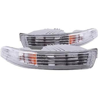 Anzo USA 511020 Acura Integra Chrome Euro w/Amber Reflector Bumper Light Assembly - (Sold in Pairs)