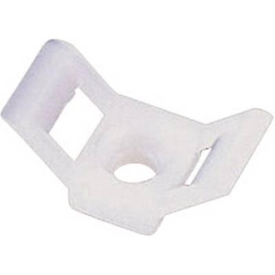 TRU COMPONENTS 28530c83 HC4 Cable mount Screw fixing White 1 pc(s)