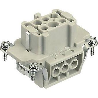 Harting 09 33 006 2701 socket inzet Han® E 6 + PE schroeven 1 PC (s)