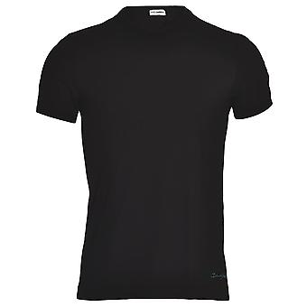 Dolce & Gabbana FUEBO Crew Neck Stretch Cotton T-Shirt, Black With Blue Logo, X-Large