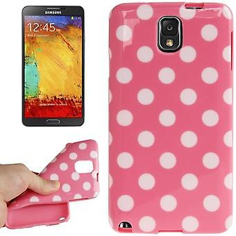 携帯電話三星銀河用保護ケースに触れる 3 N9000 ピンク