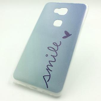 Mobile Shell for Huawei honor 5 X Smile Blau taske case cover + 1 x tank beskyttelse glas ny