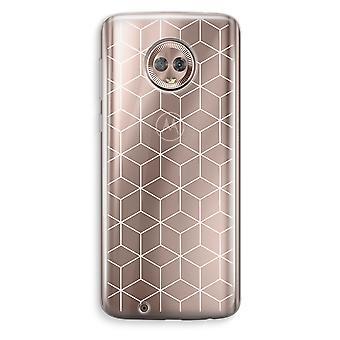 Motorola Moto G6 transparant Case (Soft) - kubussen zwart en wit