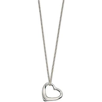 Beginnings Slip on Heart Pendant - Silver