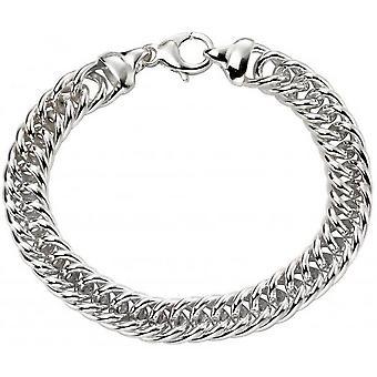 Begin zwaar gewicht nauwe Curb armband - zilver