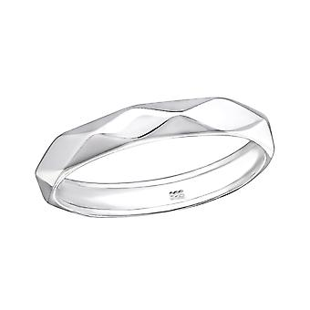 Band - 925 Sterling Silver Plain Rings - W34913x