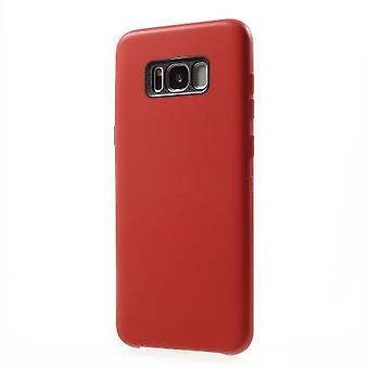 cas de flexibles pour le Samsung S8 Plus-rouge