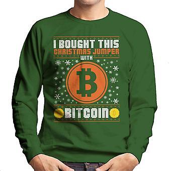 Ostin tämän joulun pusero Bitcoin miesten svetaripaita
