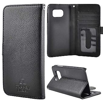 TOP left-handed wallet case Samsung Galaxy S6 Edge Black