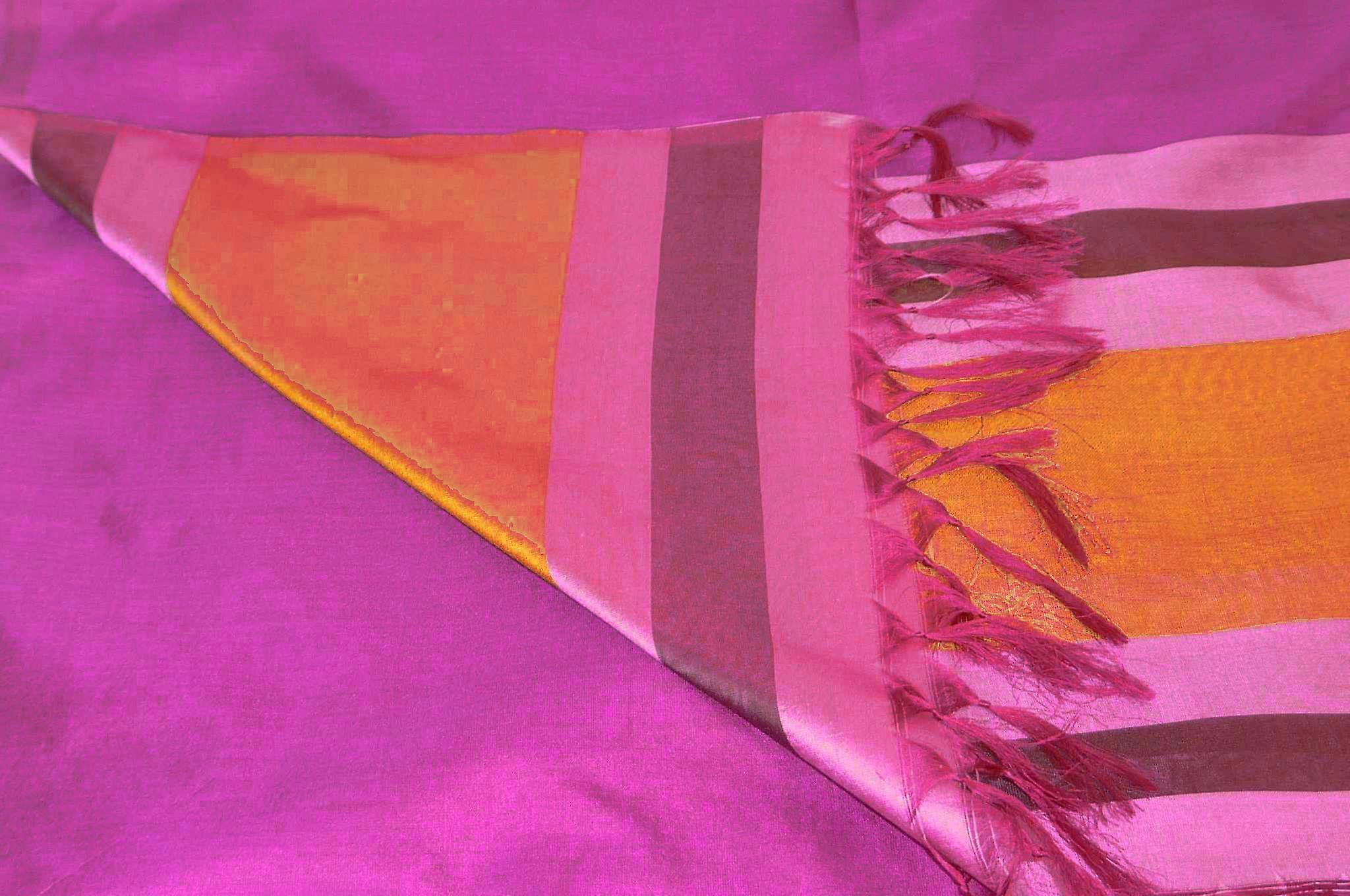 Varanasi Border Prime Silk Long Scarf Heritage Sandeep 309 by Pashmina & Silk