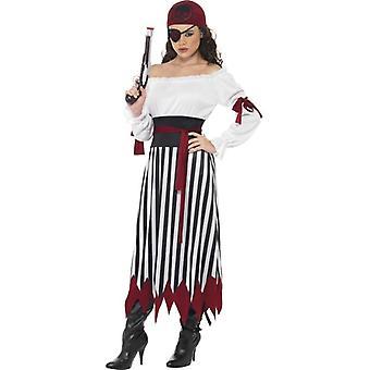 Пират платье леди костюм, Великобритания 12-14