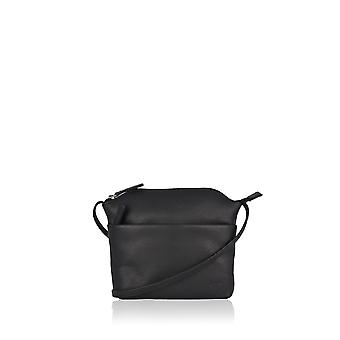 Tilly Petite Leather Cross Body Bag in Black
