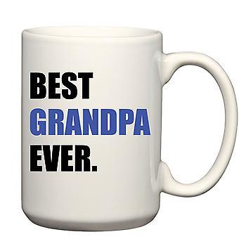 Men's Best Grandpa Ever Blue Big Mug 15oz