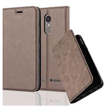 Cadorabo Hülle für Lenovo K6 / K6 POWER Case Cover - Handyhülle mit Magnetverschluss, Standfunktion und Kartenfach – Case Cover Schutzhülle Etui Tasche Book Klapp Style