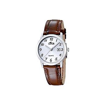 ساعات الكوارتز لوتس السيدات مع عرض تمثيلي وحزام من الجلد الأسود، اللون: بني، 2 18240