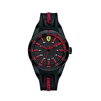 Scuderia Ferrari 0840004 quartzo unissex, adulta, clássica analógico dial e silicone cinta