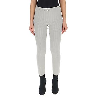 Theory J0206202q1g Women's White/grey Synthetic Fibers Pants