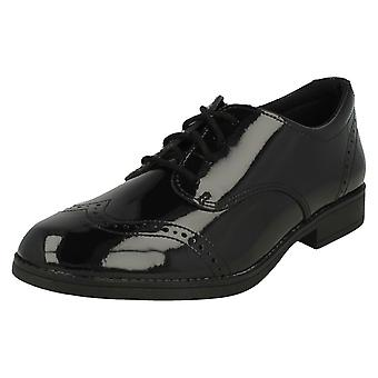 Girls Clarks Lace Up School Shoes Sami Walk