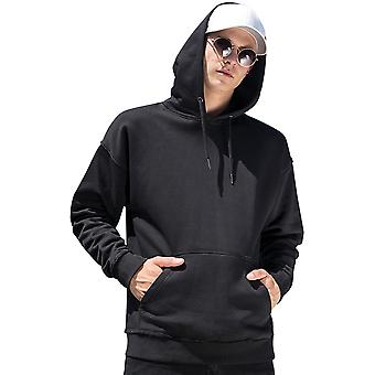 Cotton Addict Mens Oversized Front Pocket Hoodie Sweater